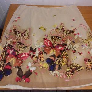 Dana Buchman Butterfly A line skirt size 16